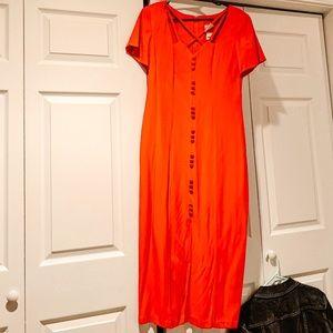 Dresses & Skirts - • 90's  v i n t a g e  b u t t o n  d r e s s •